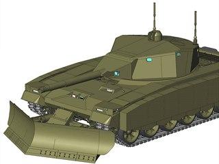 Vizualizace robotického tanku Šturm