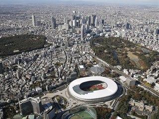 Hlavní stadion pro olympijské hry v Tokiu je hotový.