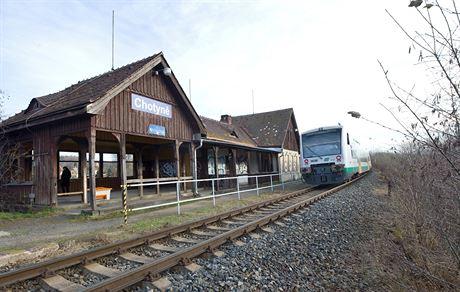 Vlak na nádraží začal jezdit v roce 1859.