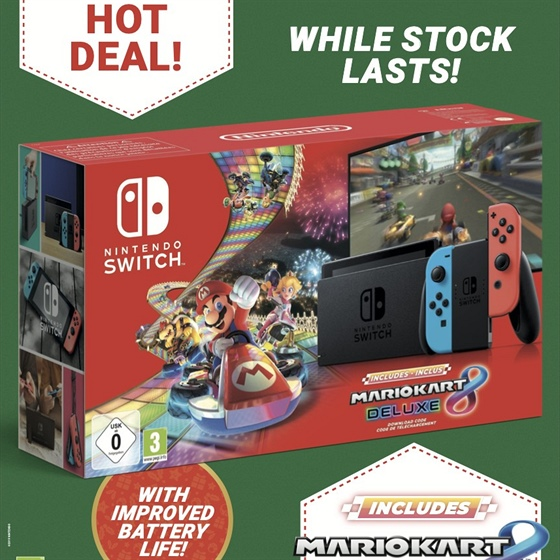 Bundle Switche s Mario Kart 8 Deluxe