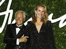 Giorgio Armani a Julia Robertsová na British Fashion Awards (Londýn, 2....