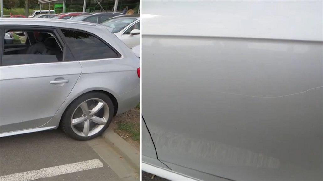 Seniorku rozčilovala zaparkovaná auta, klíčem jich několik poškrábala