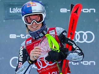 PRVNÍ ZÁŘEZ. Ester Ledecká poprvé v kariéře zvítězila v závodě Světového poháru...