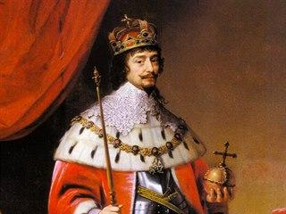 Fridrich Falcký s českými korunovačními klenoty na obraze Gerrita von...