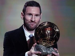 Lionel Messi vyhrál pošesté v kariéře Zlatý míč pro nejlepšího fotbalistu světa.