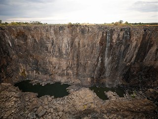 Kvůli nejhoršímu suchu za poslední desetiletí se zmenšily Viktoriiny vodopády...