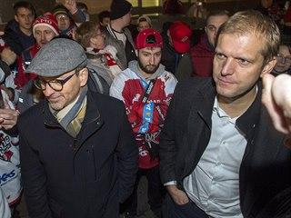 Po pátečním utkání¨hokejistů Pardubic s Plzní si fanoušci počkali na vedení...