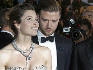 Jessica Bielová a Justin Timberlake (Cannes, 19. května 2013)