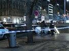 Žena ve vestibulu metra Můstek na Václavském náměstí bodla muže do hrudníku....
