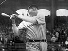Babe Ruth, legendární baseballista týmu New York Yankees (1929)