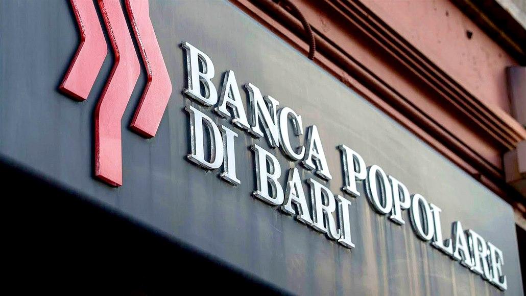 Italská banka Popolare di Bari žádá finanční injekci až jednu miliardu eur