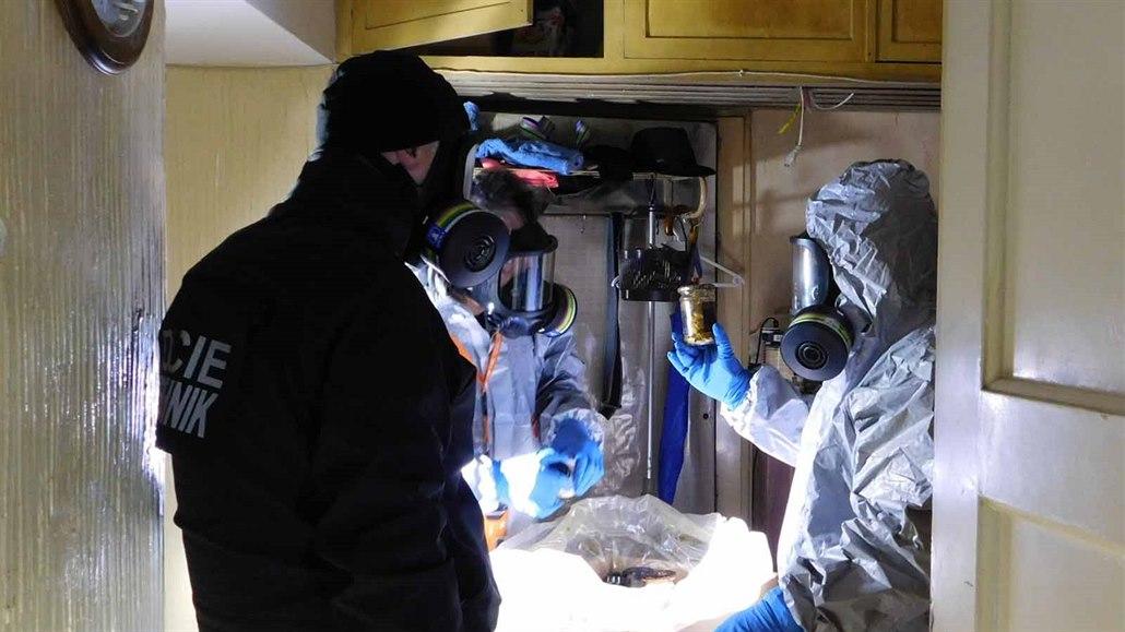 Chemikálie nalezené v brněnském bytě by stačily na zničení domu i s okolím