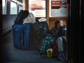 Greta Thunbergová si postěžovala na přeplněné německé vlaky. (15. prosince 2019)