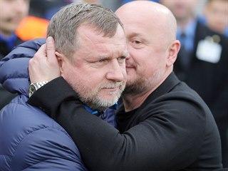 Plzeňský trenér Pavel Vrba (vlevo) a generální ředitel klubu Adolf Šádek před...