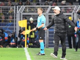 Slávistický trenér Jindřich Trpišovský během utkání Ligy mistrů na stadionu...