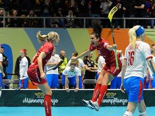 Švýcarské florbalistky se radují, otočily utkání s Češkami v semifinále ze...