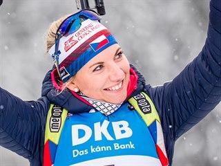Lucie Charvátová po vydařeném sprintu v Hochfilzenu