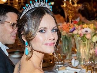 Švédská princezna Sofia na banketu u příležitosti udílení Nobelových cen...