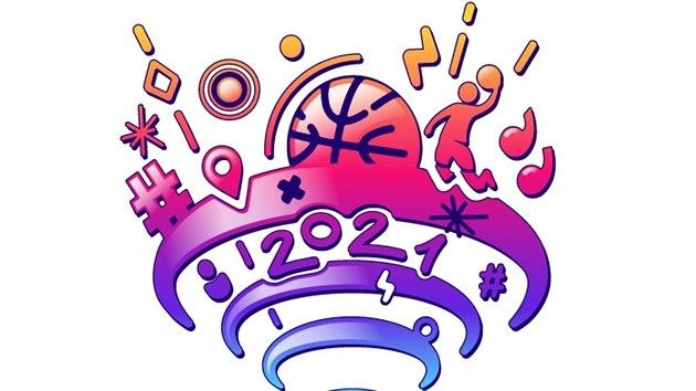 Logo EuroBasketu 2021 v Èesku, Gruzii, Itálii a Nìmecku