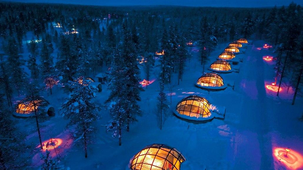 Igloo Village Kakslauttanen (Laponsko, Finsko). Polární záři zde můžete...