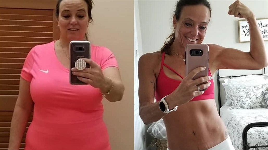 O jedenáct velikostí menší. Žena zhubla běháním, chůzí a změnou stravy