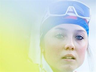 Česká biatlonistka Tereza Voborníková.