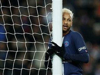 Neymar z PSG v utkání proti Monaku.