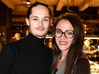 Eva Burešová s přítelem Matyášem Adamcem (Praha, 21. listopadu 2019)
