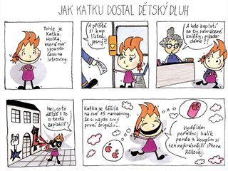 Komiks vytvořený pro projekt Advokáti do škol