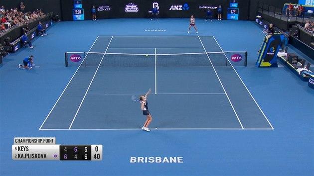 Plíšková porazila Keysovou a má třetí titul z Brisbane