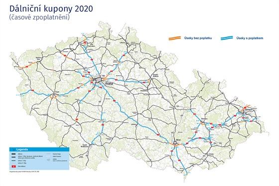 Dálniční kupony 2020 (časové zpoplatnění)