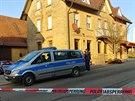 Německá policie zasahuje na místě střelby ve městě Rot am See (24. ledna 2020)