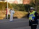 Německá policie zasahuje na místě střelby ve městě Rot am See. (24. ledna 2020)