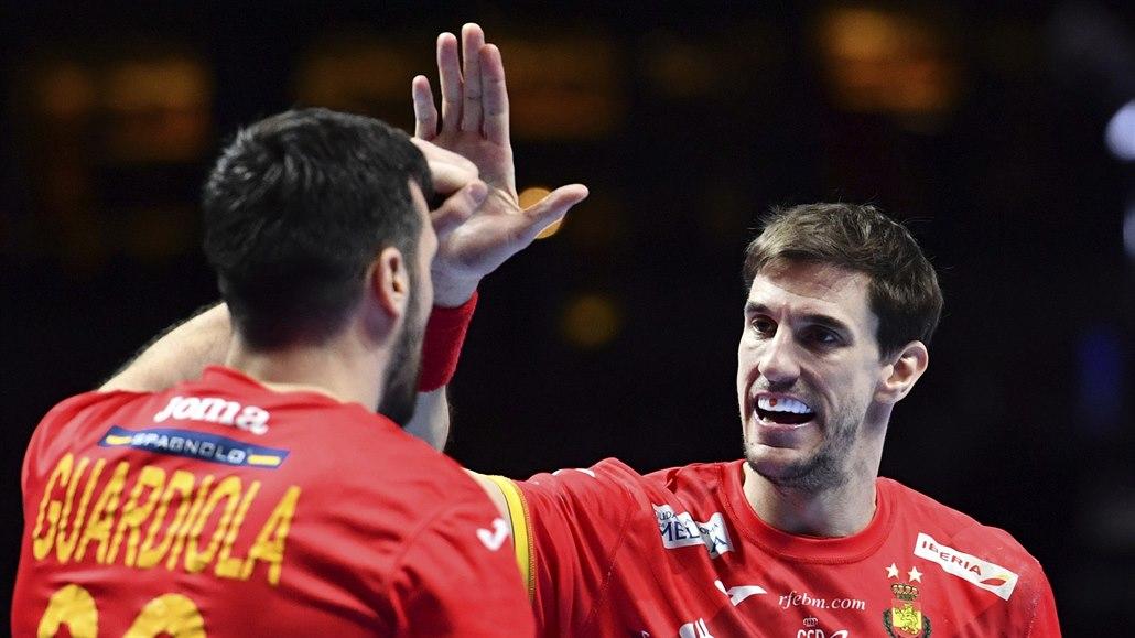 Španělští házenkáři jsou znovu ve finále Eura, letos je vyzvou Chorvati