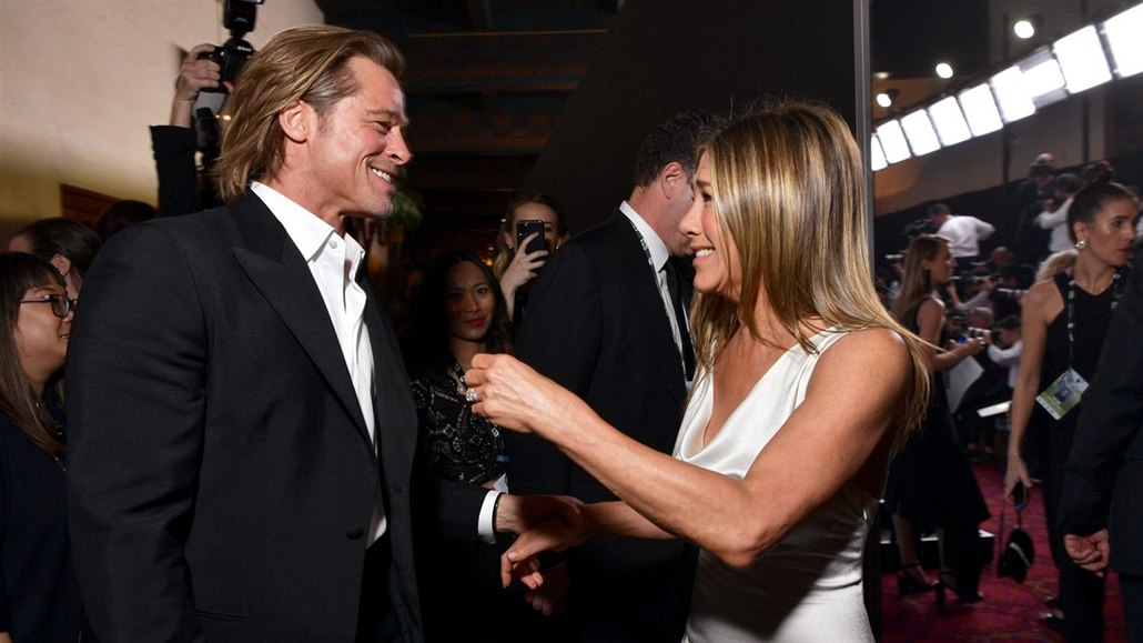 Brad Pitt a Jennifer Anistonová na SAG Awards (Los Angeles, 19. ledna 2020)