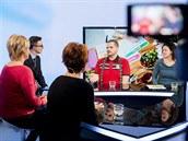 Blanka, Lenka, Erik a lektorka kurzů STOB (Stop obezitě) Petra Mocová v...