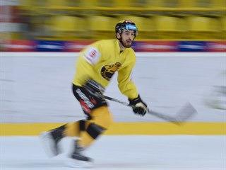 Michal Moravčík na tréninku Litvínova.