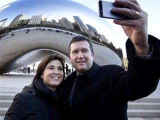 Jan Hamáček s manželkou Kamilou při pracovní návštěvě Chicaga (20. listopadu...