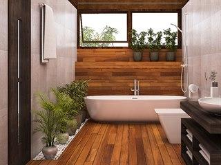 Živé rostliny se bez denního světla neobejdou, takže v koupelně bez okna na ně...
