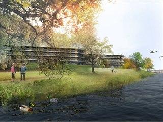 Domov pro seniory v Týně nad Vltavou má stát v klidové zóně v blízkosti řeky.