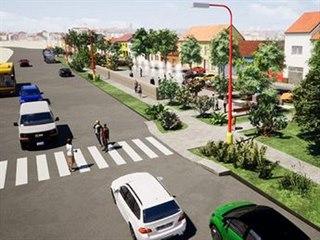 Plánovaná nová podoba Hradišťské ulice ve Starém Městě.