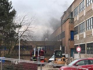 Požár v barrandovském ateliéru. (22.1.2020)