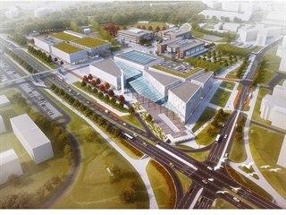 Budoucí sportovní hala univerzity, která dostane prosklenou střechu, by měla...