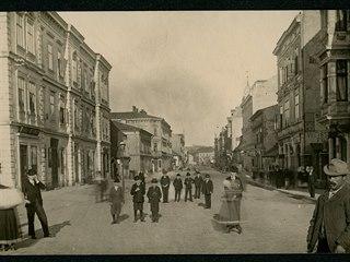Saská Kupa (dnes Hlavní třída) v první polovině 20. let 19. století, kdy se...