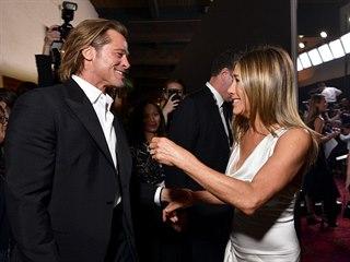 Brad Pitt a Jennifer Anistonová na SAG Awards (Los Angeles, 19. ledna 2020)