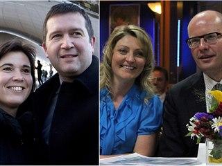 Rozvody politiků: Jan Hamáček, Bohuslav Sobotka, Jiří Paroubek s manželkami