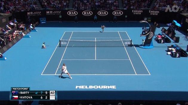 Kvitová se loučí s Australian Open. Ve čtvrtfinále ji zastavila Bartyová