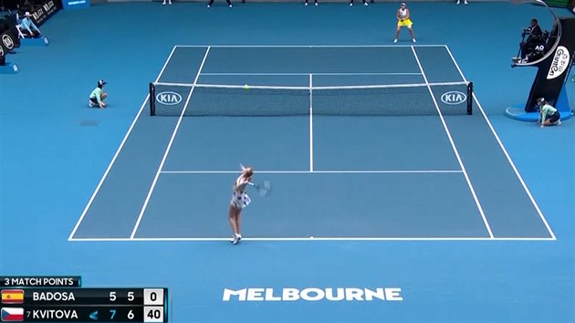 Petra Kvitová ve 2. kole Australian Open udolala Španělku Badosaovou