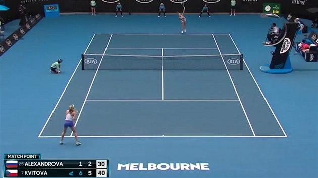 Kvitová smetla Alexandrovovou a je na AO v osmifinále