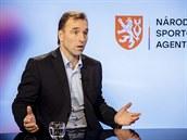 Milan Hnilička z Národní sportovní agentury v diskusním pořadu Rozstřel. (18....